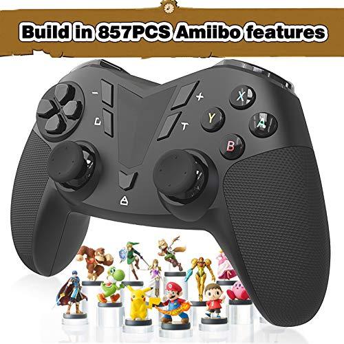 AmiiPad Controlador Inalámbrico Pro para Nintendo Switch / Lite - HD Rumble con Actuador Lineal - Cifras Amiibo de 800pcs Integradas en el Mando Pro