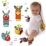 XZPP Neonato Sonagli Baby Rattle Toys, 4 Pz Velluto Calzini Polso Sonagli Bracciale Polsi ...