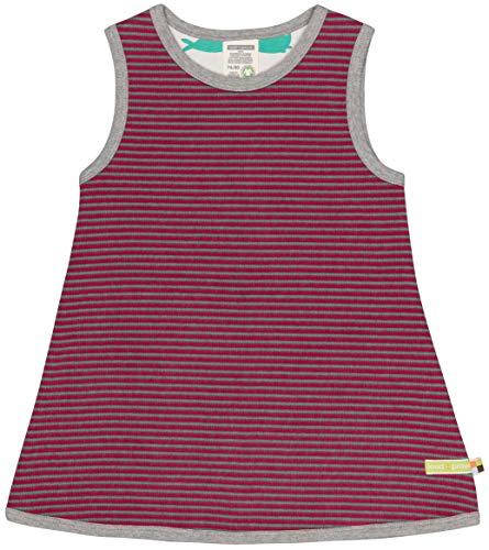 loud + proud Mädchen Ringel Aus Bio Baumwolle, GOTS Zertifiziert Kleid, Rosa (Berry Ber), 92 (Herstellergröße: 86/92)