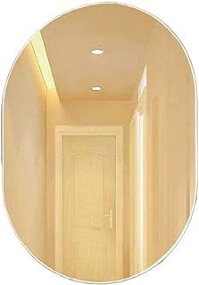 AINIYF Oval Simple Bathroom Mirror Wall Mounted Mirror Frameless Mirror Wall-Mounted Wash Basin Mirror Bathroom Mirror
