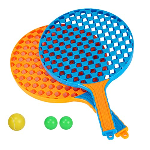 BESPORTBLE Kinder Tennisschläger Set mit Ball Kunststoff Tennisschläger Spielzeug für Kleinkinder Oder Kinder Outdoor-Sport Badmintonschläger Strand Spielzeug Spiel Zufällige Farbe