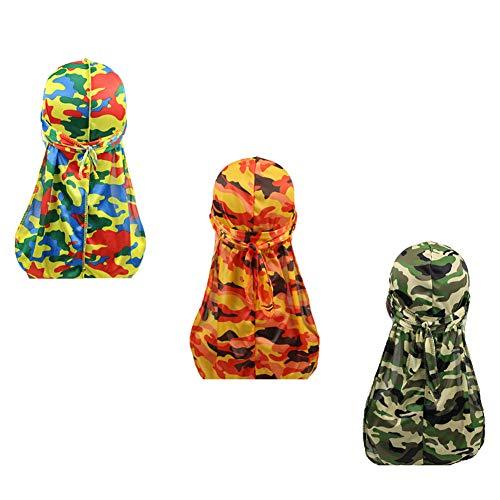 Silky Durags for Men Women 360 Waves Doo Rag Headwrap Cap?3/4 pack?,...