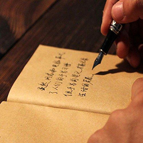 6x Cuaderno Notebook VINTAGE con tapa de papel kraft marron especial para estilografica roller rotulador y pluma 4419b