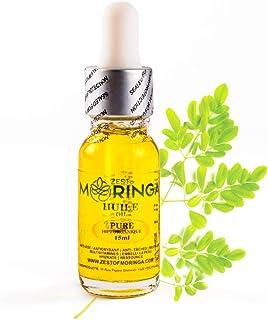 Organic Moringa Oil - Help Solving Eczema, Acne, Psoriasis, Dermatitis - Wrinkle, Sun Spots, Dark Circles & Fine Line Reduction - 15 ml