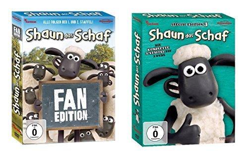 Shaun das Schaf Staffel 1-3 (Fan Edition Box + Box 3) im Set - Deutsche Originalware [7 DVDs]