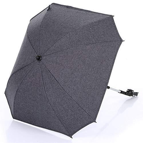 Sonnenschirm Sonnenschutz für Kinderwagen und Buggy Sunny - Diamond Special Edition - Asphalt