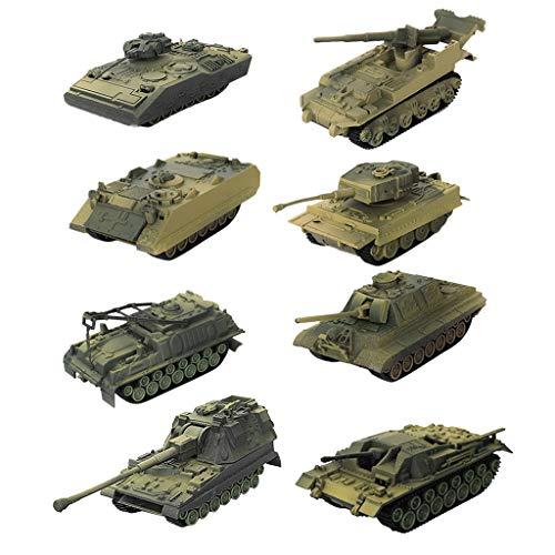 P Prettyia 8er Set 1:72 4D Panzermodell Kampf Panzer Action Figure Modell
