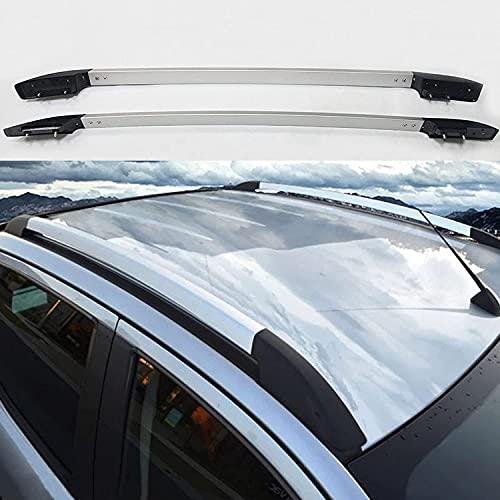 YUDE Rieles de Techo Decorativos, Barras de Soporte de rieles de Techo de aleación de Aluminio para Ford 2012-2021 Ranger T6 T7 T8 (Color: Plateado y Negro)