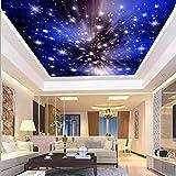 Papel tapiz mural 3D,para sala de estar,habitación de los niños,dormitorio,murales,papel tapiz fotográfico,cielo estrellado,nubes,estrellas,papel tapiz para techo,Ktv,bar,techo,pared,papel tapiz