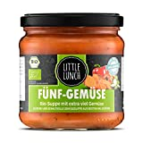 Little Lunch Bio Eintopf Fünf Gemüse | 350ml | 100% Bio-Qualität | Vegetarisch | Ohne zugesetzten Zucker | Glutenfrei | Keine künstlichen Zusätze | Ohne Geschmacksverstärker