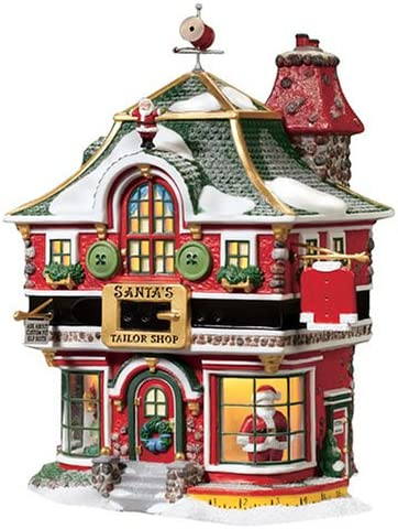 Department 56 North Pole Village Shop Rapid New Free Shipping rise Building Tailor Santas Lit