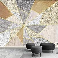 Iusasdz 大きな壁紙壁画カスタム3Dミニマリスト幾何学的パズル背景壁紙壁画120X100Cm