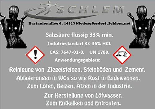 Salzsäure 22-24% - 1 Liter Lösungmittel Rostlöser