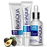 BIOAQUA 3in1 Face Acne Scar Removal Spots Pimples Oil Cream Scar Blemish Marks Moisturizing Oil 100g+30g+30ml