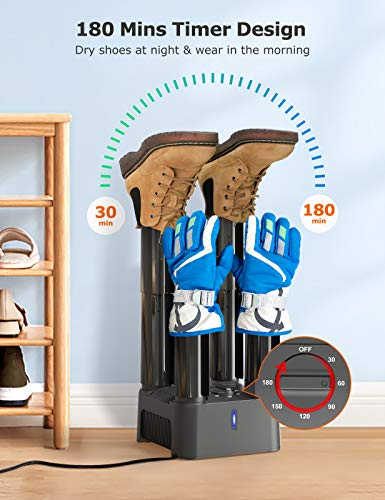 US Intelligent Boot Dryer Gloves Socks Timing Ski Boots Deodorizing Shoes Care Device for Shoes Electric Ozone Shoe Dryer with Hose Fast Drying Boot Warmer Dryer for Drying Hats