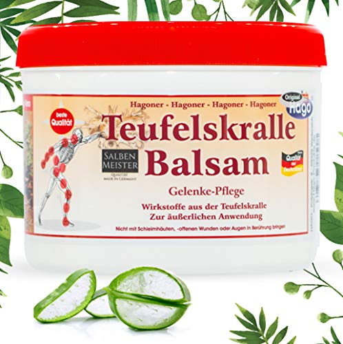 Teufelskralle-Balsam mit Aloe-Vera, Lavendelöl, Rosmarin, Johanneskraut | Teufelskralle-Creme | Teufelskralle-Salbe | 500ml
