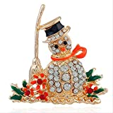 Christmas decorations, Christmas decorations, snowman brooches.