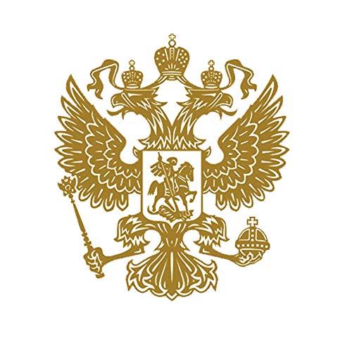Dandeliondeme Wappen von Russland Auto Body Sticker Aufkleber Russische Föderation Eagle Emblem Anzug für Ford Mercedes-Benz BMW Volkswagen Passat Audi Golden