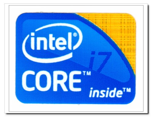 Intel CORE I7 Logo Stickers Badge for Laptop and Desktop Case -N