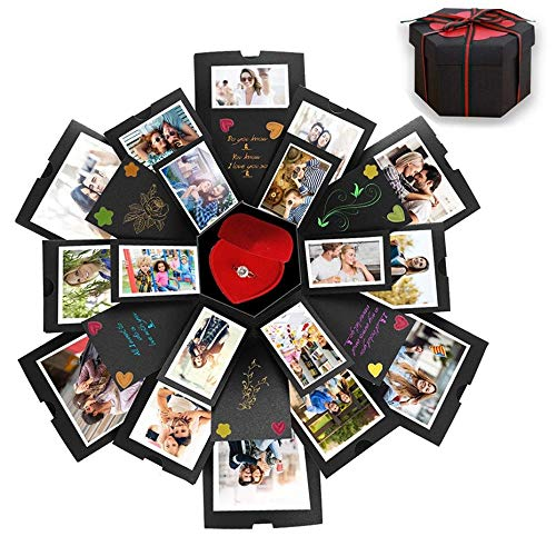 CHIMOO Caja Sorpresa con 6 Caras, Hacer tu Propio álbum de Fotos, Caja de Regalo Creativa Hecha a Mano para cumpleaños, día de San Valentín, Aniversario, Boda, Navidad