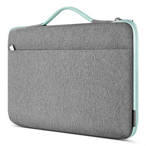 Inateck Custodia PC Portatile 15-15,6 Pollici Borsa Sleeve Impermeabile per Laptop Notebook, Ultrabook e Netbook HP Acer Dell Lenovo Sony Toshiba ecc - Grigio Menta Verde