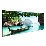 bilderfelix Cuadro Cuadros Barco en la Playa de la Isla en la Provincia de Krabi, Tailandia Tela de Lienzo fotografía HD FOH