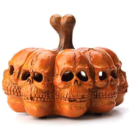 N\A Yuanshenortey - Adornos de Halloween, calabaza, cráneo, lámpara de luz nocturna, farolillo, decoración, holiday bar
