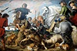 Peter Paul Rubens - Wolf and Fox Hunt - Large - Semi Gloss