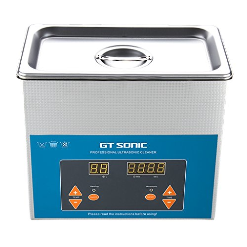 GT SONIC 2L Ultrasonic Cleaner Heated with Adjustable Timer Ultrasonic...