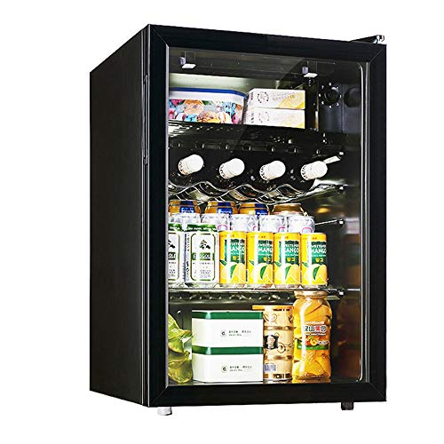 MQQ 80L Wine Cooler Governo BeverageRefrigerator Piccolo Mini Rosso Bianco Cantina Birra Soda Contatore Top Bar Frigo Silenzioso Il Funzionamento del compressore Regolare la Temperatura Indipendente
