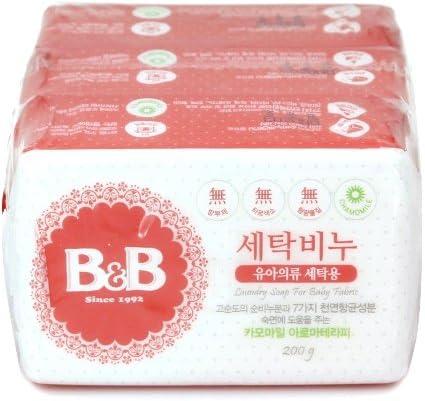 [B&B] b&b Laundry Soap for Baby Clothing [(Chamomile) - 200g 3EA]