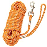 PETPMEEE Long Dog Leash - Refective Dog Training Leash for Small Meidum Dogs - 30FT 50FT Lead Rope Dog Leash for Running Swimming Camping Playing in Yard Hiking Outdoor