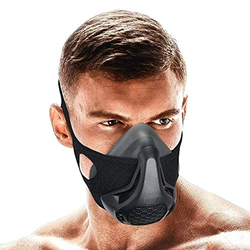 QISE Training Mask Resistance Breathing Oxygen Sport Fitness Mask 24...
