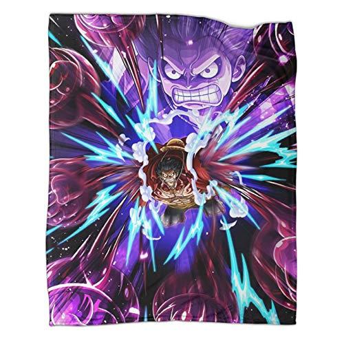 Xaviera Doherty Schwere Decke, 130 x 180 cm, Motiv: Hotblooded Anime, Luffy Zoro, weiche und bequeme Bettdecke, Kinderbettwäsche