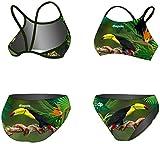 Diapolo Tucan Sport Bikini de Dos de la colección Wild Animals para Nadar natación Sincronizada Agua Ball thriathlon, dünne Träger, Extra-Large