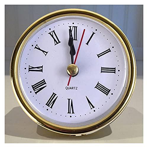 CHHNGPON Wecker 65mm Klassische Eisen Uhr Handwerk Quarz Bewegung Runde Beleuchtung Uhren Kopf Einsatz Anzahl Möbel Dekorationen Zubehör (Color : A)