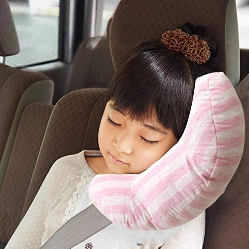 Accessori Seggiolini Auto per Bambini, Adattatore per auto Cuscino per cuscino per bambini,sicurezza in auto per bambini cuscino spalla cuscino cintura (rosa)
