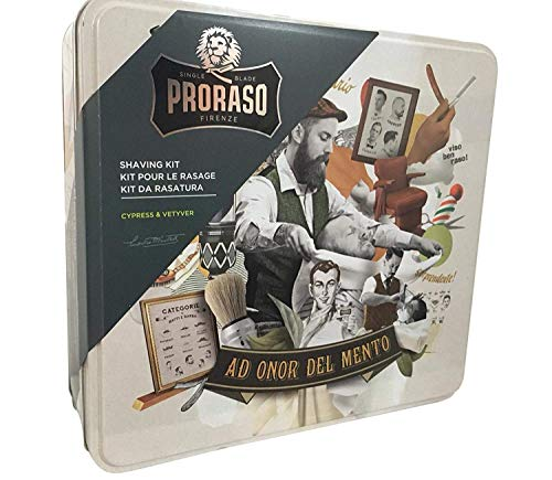 Proraso Shaving Kit Cypress & Vetyver -Serie - 3-teilig Rasurpflege Set - Pre-Shave-Creme, Rasiercreme und After-Shave 1.097 kg