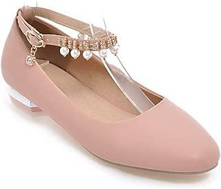BalaMasa Womens APL12414 Pu Block Heels