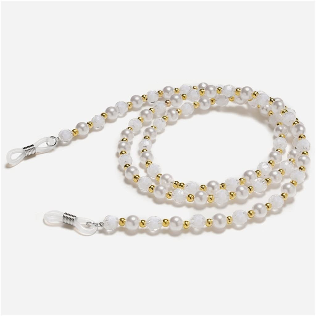WJCCY Seven-Color Beads Glasses Chain Lanyard Glasses Strap Sunglasses Cords Casual Glasses Accessories (Color : F, Size : Length-70CM)