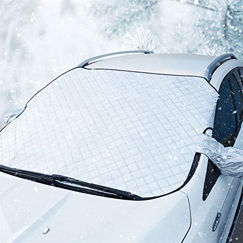 AMTBBK Parabrisas del Coche De La Cubierta De Nieve, Hielo Parasol Evitar Que La Nieve Polvo Heladas Congelación Cubierta Protectora De La Cubierta con La Cubierta del Espejo