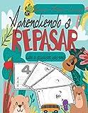 Aprendiendo a repasar: Un cuaderno de actividades infantiles para aprender a repasar , y niñas de preescolar y educación infantil