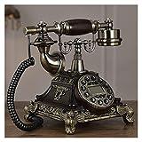 TAIJU-CHENCHEN Antiguo dial rotatorio Europeo Teléfono Fijo Antiguo Retro Home Fashion Creative Wired Teléfono Línea Fija, Teléfono Antiguo de dial rotario, Manos Libres for el hogar CHENCHEN