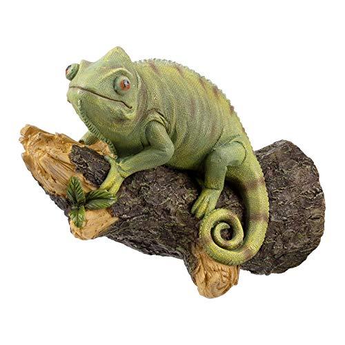 MagiDeal Estatuilla de camaleón de Resina montada en la Pared Estatua de Lagartija Artesanal para la decoración de árbol al Aire Libre del jardín del hogar
