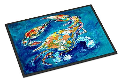 Caroline's Treasures MW1153JMAT by Chance Crab Indoor or Outdoor Mat 24x36, 24H X 36W, Multicolor