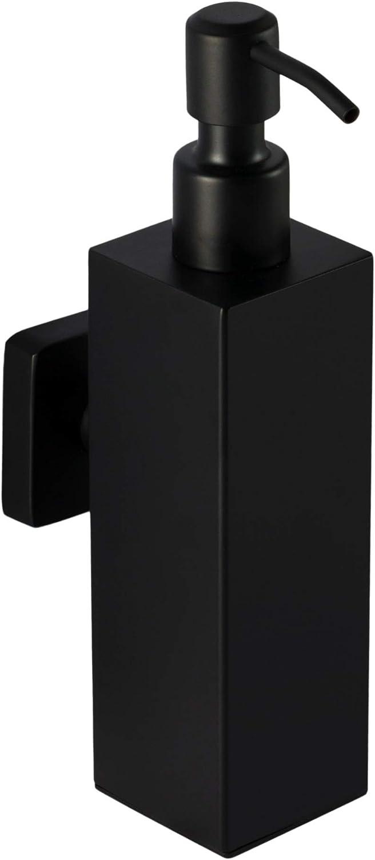 Ambrosya - Dispensador de Jabón de Acero Inoxidable en Negro - Baño Inodoro Soporte Titular (Acero Inoxidable (Negro), Angular)