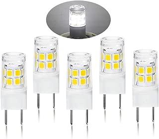 G8 LED Light Bulb 2.5 Watts Daylight White - G8 Base Bi-pin Xenon JCD Type LED 120V 20W Halogen Replacement Bulb for Under Counter Kitchen Lighting, Under-Cabinet Light.Pack of 5 (Daylight White)