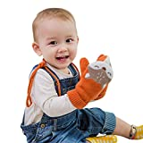 DORRISO Niedlich Fuchs Kinder Frühling Winter Handschuhe Fäustlinge Baby Karikatur Fausthandschuh mit Warm Wolle für 1-6 Jahre Kinder Spielen Skifahre
