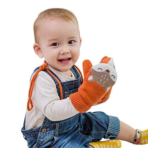 DORRISO Carina Volpe Guanti Bambini Mittens Infantili Guanti Per Bambini Bebè Mittens Tra 1-6 Anni Taglia Unica Cotone