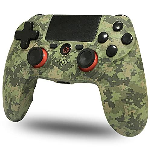 BMSARE Controller PS4 Wireless, Bluetooth PS4 Joystick Gamepad Joypad Controllers per PS4 Pro/Slim con 6 Axis Gyro Sensor e Dual Shock Vibrazione, Audio Microfono e Touch Panel Camuffare